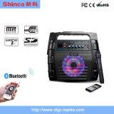 Altoparlanti portatili con Bluetooth, indicatore luminoso, Mic di karaoke del DJ da 8 pollici audio