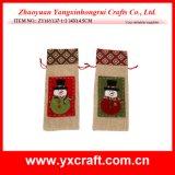クリスマスの装飾(ZY14Y41-3-4)のクリスマスのワイン袋の卸売Xmasのギフトの休日の装飾