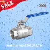 Шариковый клапан Dn15 2PC продетый нитку женщиной, нержавеющая сталь 201, 304, 316 клапан, шариковый клапан Q11f