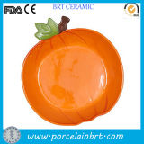 Prato decorativo em forma de fruta em cerâmica