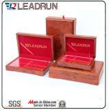 Rectángulo de moneda conmemorativo de moneda de la colección del caso de regalo del rectángulo del efectivo del recuerdo de madera de cuero del rectángulo (G10)