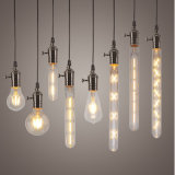 luz de bulbo del filamento de 2W 4W 6W 7W 8W E27 LED