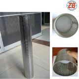 Acero inoxidable modificado para requisitos particulares 316 cilindros perforados del filtro de acoplamiento del metal