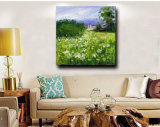 Factory Directly Wholesale Paysage Flower Field Handmade Oil Painting