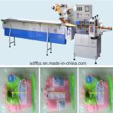 Máquina de embalagem de fluxo de luvas de borracha automática completa