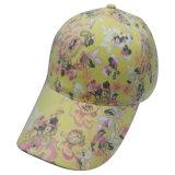 花ファブリックBb113が付いている6つのパネルの野球帽