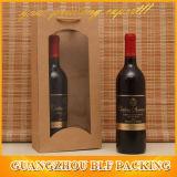 De Zak van het Pakpapier met Venster voor de Fles van de Wijn