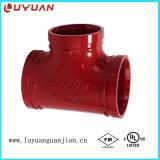 Té Grooved de fer malléable d'homologation de FM/UL avec ASTM A536