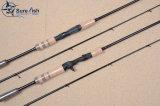 Pesca Rod di filatura di trasporto dell'OEM della guida libera di microonda