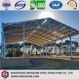 移動可能な鉄骨構造の倉庫