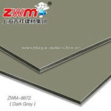 Comitato composito di alluminio grigio scuro materiale della decorazione