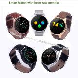 Mtk2502c het Slimme Horloge van Bluetooth van het Scherm van de Aanraking met het Tarief van het Hart K88h
