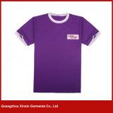 Os t-shirt penteados 100% do algodão da alta qualidade Sleeve brevemente (R185)