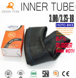 Chambre à air 3.00-18 de tube de tube butylique initial de moto