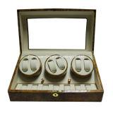 光沢度の高い13個の腕時計の節玉の木製の三重の腕時計の巻取り機