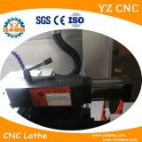 Máquina de giro barata do torno do CNC, torno inclinado do CNC da base