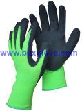 Двойная Coated перчатка, отделка Sandy, перчатка нитрила