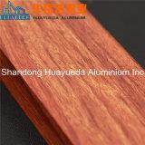 Aluminio de madera del grano de la transferencia de la protuberancia de aluminio del perfil para Windows y las puertas