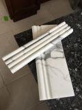Mattonelle di marmo bianche di marmo bianche italiane della stanza da bagno di disegno del pavimento di Statuario/marmo bianco di Carrara da vendere