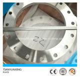 Bride d'acier de la plaque de pleine face d'acier inoxydable ASTM A182 F316