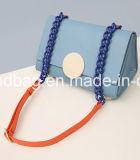 Borsa su ordinazione della tela di canapa delle 2016 di nuovo modo promozionale di disegno dell'OEM di promozione di Tote donne del sacchetto per la signora