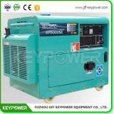 conjunto de generador diesel portable refrescado aire 5kVA con el sistema de carga de la rueda volante