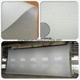 PVC白い映写幕の音透過スクリーンファブリック