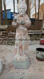 Естественный белый/цветастый мраморный каменный религиозный деятель высекая скульптуру