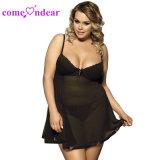 Hot Sale populaires plus sexy de la taille de la conception de vêtements de nuit
