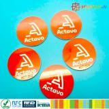 markering van de 13.56MHzMIFARE de Klassieke 1K NFC zelfklevende Sticker RFID voor Informatievergaring en uitwisseling