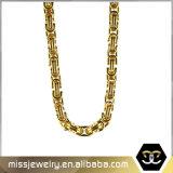 Le Byzantin fabriqué à la main en gros de l'or 14K enchaîne le collier Mjcn024