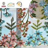 Mutilの多彩な花ポリエステル網のレースファブリックEmbrodieryのレース