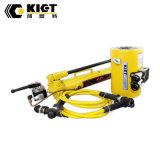 Cilindro hidráulico del alto tonelaje temporario doble de la serie de Clrg de la marca de fábrica de Kiet