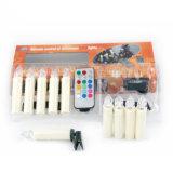 La luz de velas de Navidad LED con 10 PCS Clip