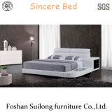 현대 가구 침대 실제적인 가죽 8001