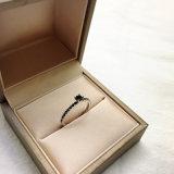 Anillos de diamante cúbicos de la piedra del Zircon del estilo de la manera de la piedra de la joyería del negro coreano de la plata