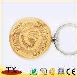 Neues Entwurfs-Holz u. Metall Keychain