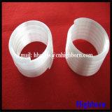 Heißer Verkaufs-milchiges weißes Spiring fixiertes Quarzglas-Gefäß