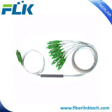 China fábrica de fibra óptica de alimentación de 1*16 PLC Splitter para FTTX