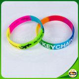 Beste Verkäufe segmentierten bunter Gummiwristband-kundenspezifisches Firmenzeichen-Silikon-Armband