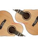 """Picea Asperata 40 de la música de Afanti """" /41 """" guitarra acústica (AAG-123)"""