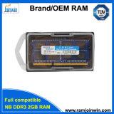 휴대용 퍼스널 컴퓨터를 위한 수명 보증 DDR3 2GB 렘