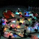 G40 fil de cuivre de l'ampoule LED Chaîne de Noël avec des couleurs différentes