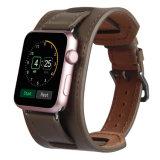 Correa de reloj ancha elegante del cuero genuino de las señoras para la venda de reloj de Apple