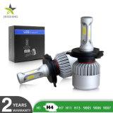 卸売3の側面の高い発電の穂軸8000の内腔の極度の明るい6500KヘッドライトH7 LED車の電球のヘッドライトH4