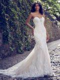 Strapless Suite Quarto Mermaid Lace punhos reforçados Garden Beach vestidos de casamento Z112