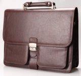 Мешки PU ретро вскользь товара классик кожаный для компьтер-книжки портфеля бизнесменов кладут портфолио в мешки