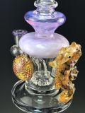Nuevo colorido vidrio artesanías fumar pipa de agua con el recipiente