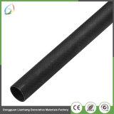 Personalizar el tubo de fibra de carbono de sarga con superficie brillante