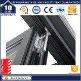 Porta de dobradura deslizante de alumínio com grade de alumínio